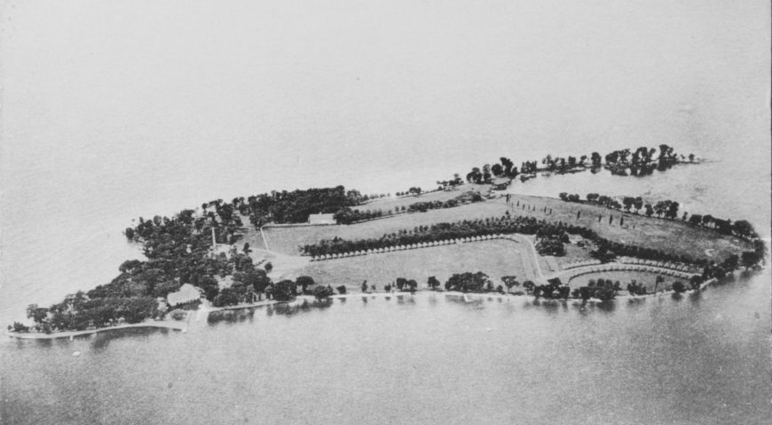Historic Aerial View of Association Island