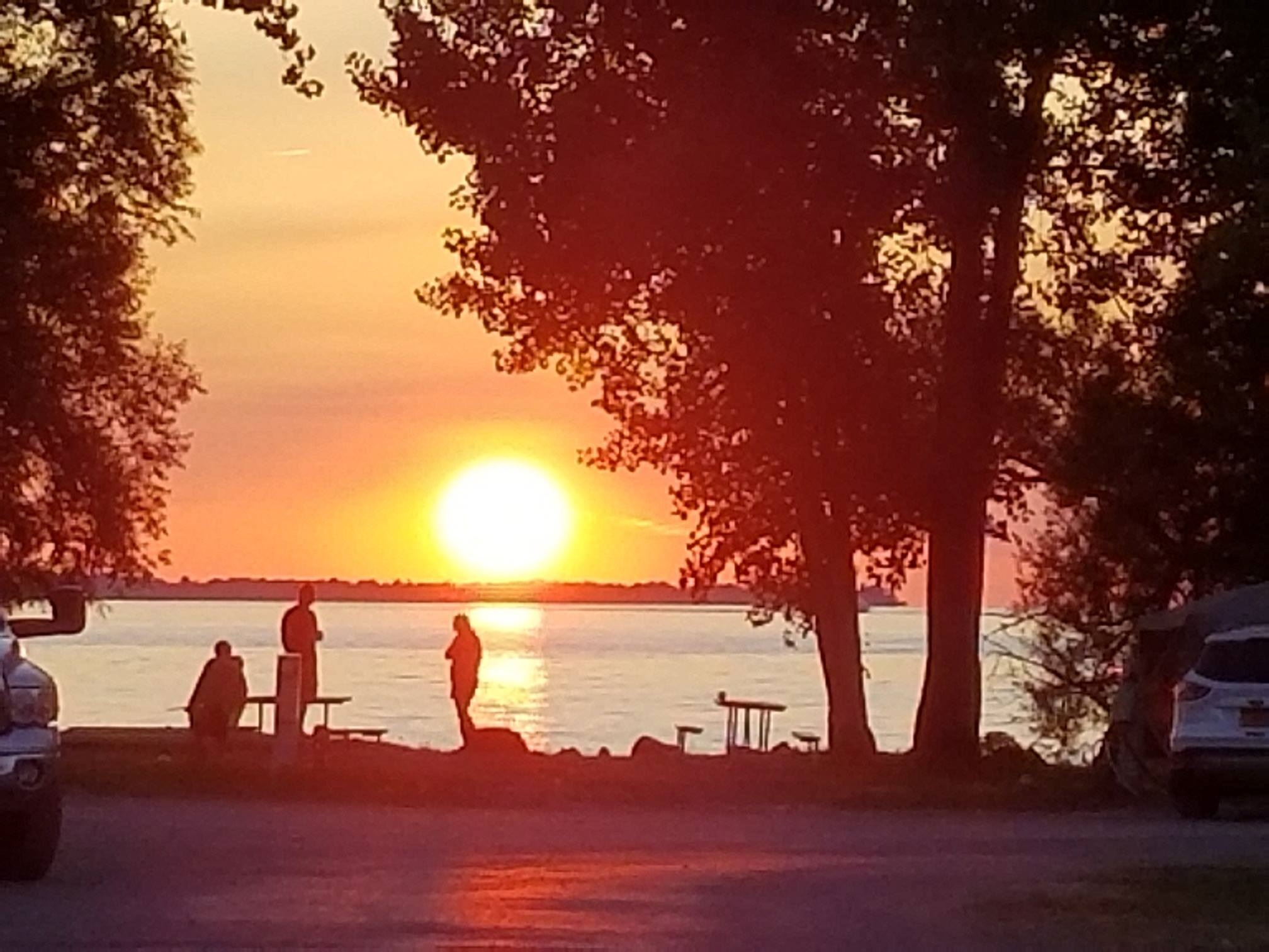 Sunset on Association Island Campground